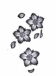 Image result for black and white cherry blossom tattoo designs
