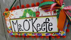 Teacher Name Sign Personalized.....CUSTOM...... $40.00, via Etsy.