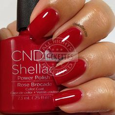 CND Shellac Modern Folklore Collection - Rose Brocade - swatch by Chickettes.com
