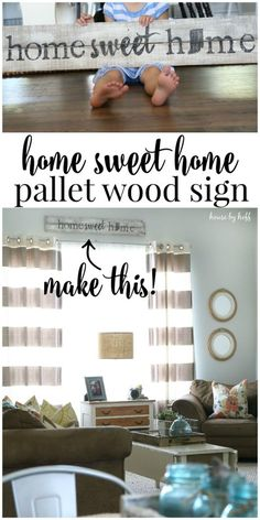 Pallet Wood Sign {Home Sweet Home} - House by Hoff