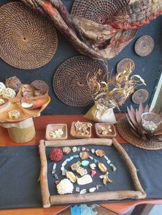 An invitation to create using beautiful natural loose parts at Lyn's FDC ≈≈