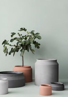 The Ferm LIVING Pot Concrete/Vessel Big was created by the in-house design team for Danish design company ferm LIVING.ferm LIVING was created by Trine Andersen