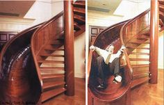 Now this is what I imgine an adult staircase should look like. Nothing like having something, that holds the ability to allow us adults to be kids again