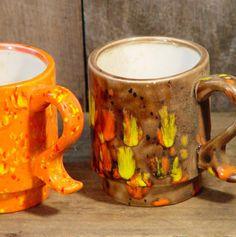 Brady Bunch Coffee Mugs Two Mugs Vintage by SurrenderDorothy, $12.89