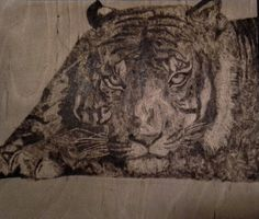 Tiger  (wood-burned picture)