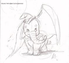 disney sketches   Disney - Dumbo sketch by ~wynahiros on deviantART