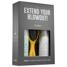 Shop Drybar's The Extend Your Blowout Travel Kit at Sephora. The four-piece set is designed to help your hair maintain its style for days.