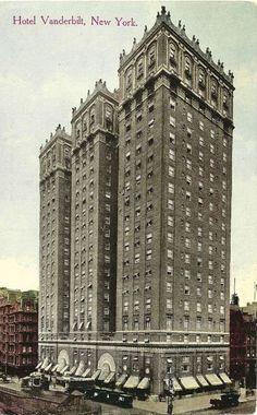 The 1912 Vanderbilt Hotel -- Park Avenue and 34th Street (still exists in 2012)