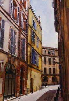 AGUILERA - rue mage - Peinture - aquarelle