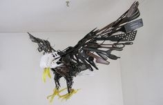 Artist Sayaka Ganz creates works of art from plastic utensils and objects.