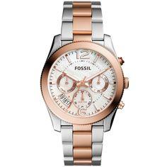 Fossil Women's ES4135 Perfect Boyfriend Multi-Function Dial Two-Tone Bracelet Watch