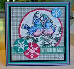 Stampendous winterbirds, prachtig ingekleurd!