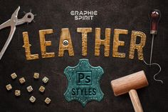 Leather Layer Styles For Photoshop  @creativework247