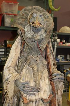 "This costume is original to the 1982 film. ""There's a lot of detailing that goes into the costuming because it reveals a lot about the environment they live in, and their backstory of being once grand and now impoverished and dirty,"" Zobel said. ""We still are inspired to do that."" She went on to say, ""Jim Henson always had a big plan for what he wanted it to look like, and he liked to play with it so there'd be lots of attention to detail."""