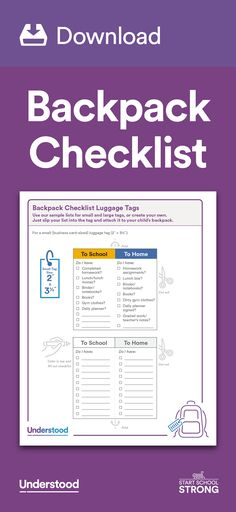 Getting your child's backpack organized is a feat worth celebrating. But making sure he puts in everything he needs for the trip to school and back can take some work. A luggage tag checklist is an easy way to help your child keep track, without it being obvious to other kids. #StartSchoolStrong
