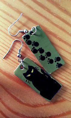 Cats / Koty #kolczyki #earrings #handmade #cats #koty