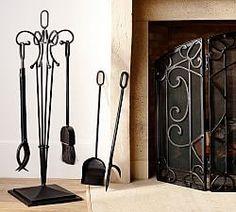 Aspen Fireplace Single Screen | Pottery Barn