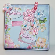6x6 Box Designed by Jennifer Kray for Craftwork Cards using Boutique Floral Collection.
