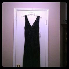 Dress Black sheer w/rose design Robbie Bee Dresses