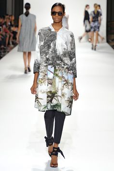 Spring 2012 RTW. Paris (Inspiration: James Reeves photography as prints combined with 1950's Spanish and Italian high fashion)