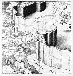 A cartoon published in a British newspaper in June 1948.