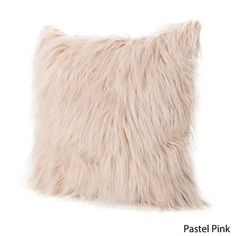 Cianan Faux Furry Pillow by Christopher Knight Home (Pastel Pink)