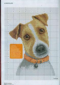 Jack Russel Cross Stitch Chart - CrossStitcher 232 ноябрь 2010