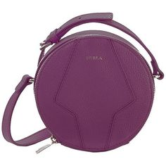 Furla Perla Mini Leather Crossbody Bag ($278) ❤ liked on Polyvore featuring bags, handbags, shoulder bags, aubergine, leather cross body purse, crossbody handbags, leather shoulder bag, purple leather handbag and mini crossbody purse