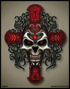 Skull and cross.