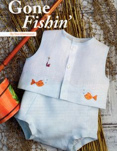 Mar/Apr 12 - Gone Fishin' Diaper Shirt and Diaper Cover Baby Boy Dress, Baby Boy Outfits, Baby Dresses, Vintage Baby Boys, Baby Sewing Projects, Heirloom Sewing, Cute Outfits For Kids, Baby Sweaters, Summer Baby