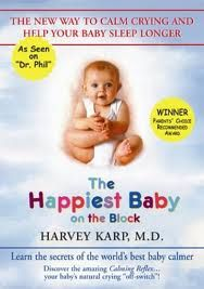 In this book Dr. Harvey Karp talks about the importance of the 5's- swaddling, side stomach position, swinging, shushing, sucking. What made most sense to me is his statement of the fourth trimester and how babies during the first three months are getting used to being outside of the womb. Great book with great tips on calming a fussy baby. #parenting
