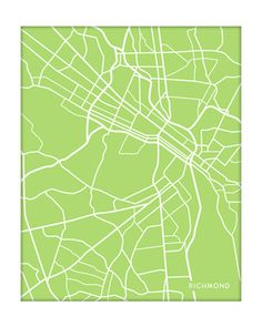 Great map of Richmond, Virginia [lots of colors and sizes to choose from]