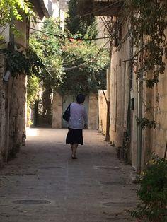 Rechov Ha'maaravim, Jerusalem, a typical beautiful street now very chic...