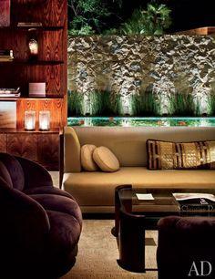 Beverly Hills Living Room of Jennifer Aniston   designer Stephen Shadley   photo by Scott Frances   Todd Merrill Antiques, Manuel Canovas decor   via Architectural Digest
