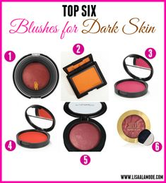 Best Blushes for Dark Skin - Lisa a la mode Blush For Dark Skin, Dusky Skin, Dark Skin Girls, Dark Skin Tone, Contour For Dark Skin, Neutral Makeup, Dark Skin Makeup, Dark Skin Beauty, Makeup Blush