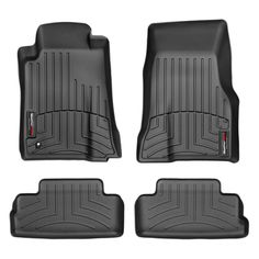 """WeatherTech 44139-1-2 Series Black Front and Rear FloorLiner - FloorLiner(TM) In the quest for the most advanced concept in floor protection, the talented designers and engineers at WeatherTech(R) have worked tirelessly to develop the most advanced floor protection available today! The WeatherTech(R) FloorLiner(TM) accurately and completely lines the interior carpet giving """"absolute interior protection(TM)""""! The WeatherTech(R) FloorLiner(TM) lines the interior carpet up the front, back and…"""