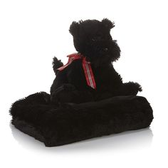 Jeffrey Banks Plush Faux Fur Scottie and Throw 2-piece Set
