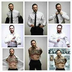 Tom Hardy shoot for esquire .