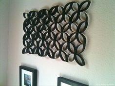 TOILET PAPAER ROLL WALL ART!