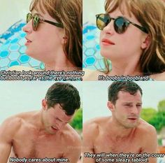 Its boob's in boobland Fifty Shades Cast, Fifty Shades Quotes, 50 Shades Trilogy, Fifty Shades Series, Fifty Shades Movie, Fifty Shades Darker, Christian Grey Quotes, Christian Gray, Jamie Dornan