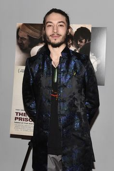 Ezra Miller Rocks Oriental Print Jacket for 'The Stanford Prison Experiment' Premiere