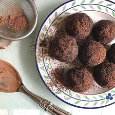 Vitamix Global Headquarters on Instagram. Energy balls with dates and cocoa powder from @naturally_nada