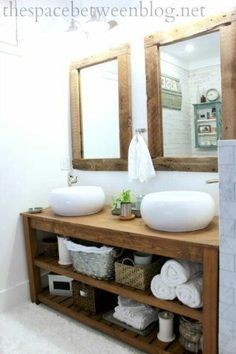 the space between rustic master bathroom &; the space between toni_and_levi jennifermerkoff Bathroom bathroom decor ideas luxury furniture living room ideas home furniture […] farmhouse guest room Rustic Master Bathroom, Rustic Bathroom Vanities, Modern Farmhouse Bathroom, Rustic Bathrooms, Basement Bathroom, Small Bathroom, Farmhouse Design, Bathroom Ideas, Bathroom Cabinets