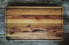 Reclaimed oak cutting board