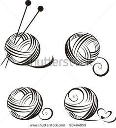set of yarn balls with needles isolated on White background. Vector illustration by Kalenik Hanna, via ShutterStock