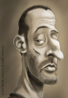 Jean Reno by JaumeCullell -Inspirational Showcase of 50 Great Celebrity Caricatures