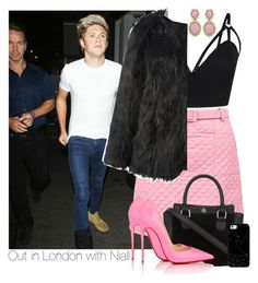 """""""・ Out in London with Niall  ・"""" by zaynismybaex ❤ liked on Polyvore featuring Ciner, Christian Louboutin and Casetify"""