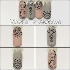 The problem is so many nail art and manicure designs that you'll find online Great Nails, Perfect Nails, Gorgeous Nails, Mandala Nails, Dot Nail Art, Lace Nails, Manicure E Pedicure, Funky Nails, Elegant Nails
