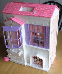 Barbie Pretty Folding House Dollhouse.  I HAD THIS!!!!!!!!!!!!!!!!!!!!!!!!!!