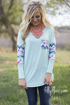 Free and Easy Dolman top in MINT from fillyflair.com!